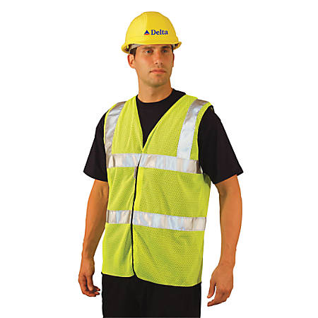 Class 2 Mesh Vests with 3M Scotchlite Reflective Tape, Medium, Hi-Viz Yellow