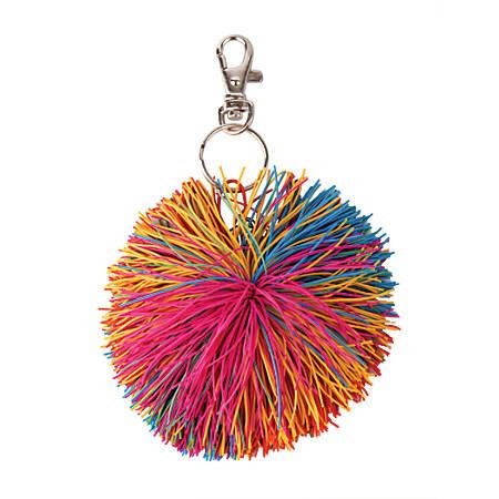 Office Depot® Brand Kushball Key Chain, Silver