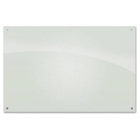 """MooreCo Frosted Pearl Glass Dry Erase Markerboard - 72"""" (6 ft) Width x 48"""" (4 ft) Height - Frosted Pearl Tempered Glass Surface - Rectangle - Wall Mount - 1 Each"""
