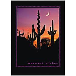 Sample Holiday Card Desert Silhouette