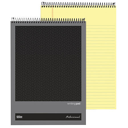 """Office Depot® Brand Professional Top Wirebound Wide-Ruled Legal Pad, 8 1/2"""" x 11 3/4"""", Canary, 70 Sheets"""