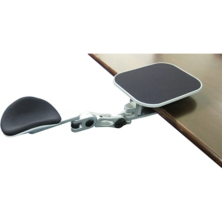 Ergoguys EG-ErgoArm Adjustable Computer Arm Rest With Mouse Pad, Silver