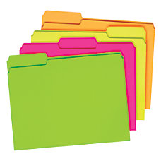 Pendaflex Glow File Folders 13 Cut