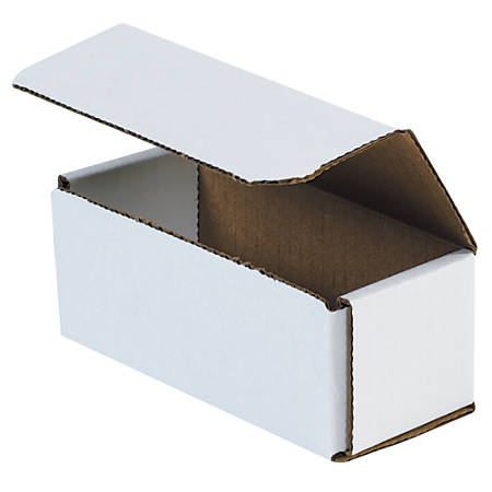 """Office Depot® Brand 10"""" Corrugated Mailers, 3""""H x 6""""W x 10""""D, White, Pack Of 50"""