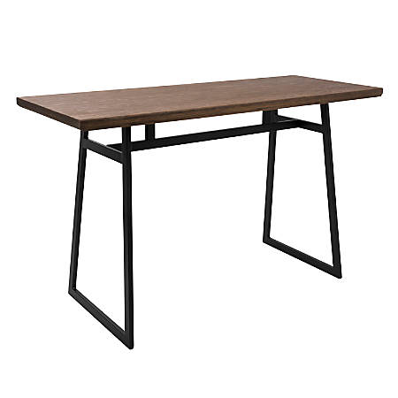 Lumisource Geo Industrial Counter Table, Rectangular, Brown/Black
