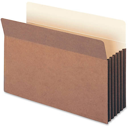 """Smead® Easy-Access Top-Tab Tyvek® File Pockets, Legal Size, 5 1/4"""" Expansion, 30% Recycled, Redrope, Box Of 10"""