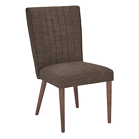 Ave Six Caroline Dining Chair, Taupe/Coffee