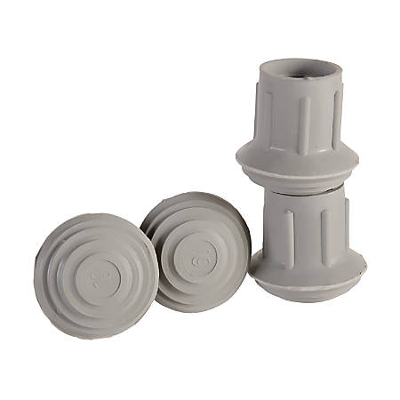 "DMI® Walker And Cane Replacement Tips, #21, 1 1/8"", Gray, Pack Of 4"