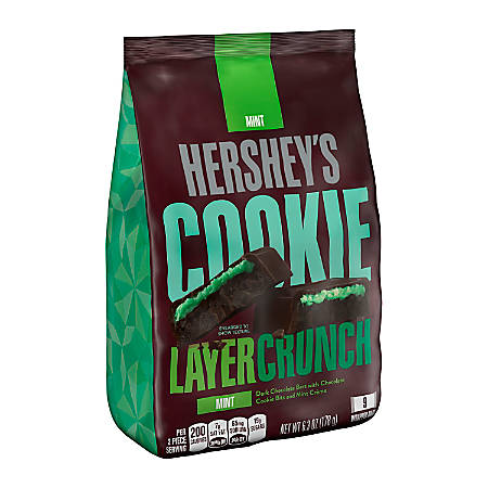 Hershey's® Cookie Layer Crunch, Mint, 6.3 Oz, Case Of 3 Bags
