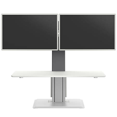 WorkPro® Perform Desk Riser By Humanscale, Dual Monitor, White