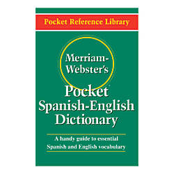 Merriam Websters Pocket Spanish English Dictionary