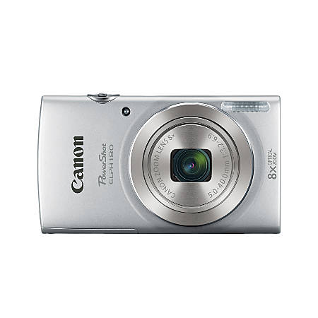 Canon PowerShot ELPH 180 20-Megapixel Digital Camera, Silver