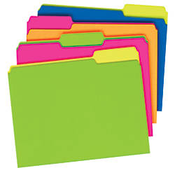 Pendaflex Glow File Folders Twisted Twin