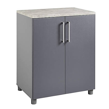 Ameriwood™ Home Latitude 2-Door Base Cabinet, 3 Shelves, Graphite/Gray