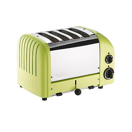 Dualit NewGen Extra-Wide Slot Toaster, 4-Slice, Lime Green
