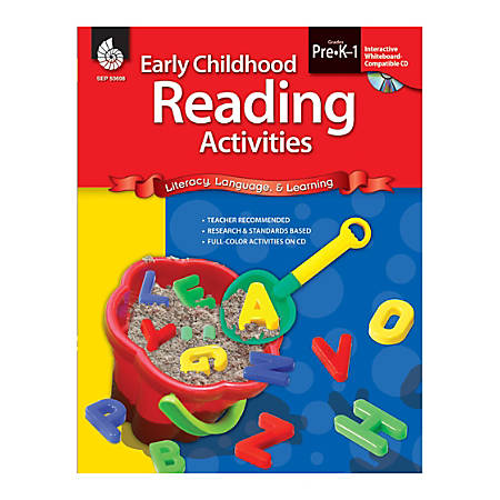 Shell Education Early Childhood Activities Set, Reading, Grades Pre K - K