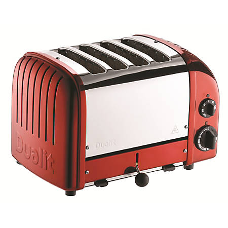 Dualit NewGen Extra-Wide Slot Toaster, 4-Slice, Apple Candy Red