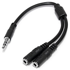 StarTechcom Slim Stereo Splitter Cable 35mm