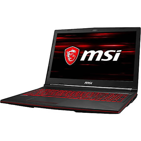 "MSI GL63 8SE-054 15.6"" Gaming Notebook - 1920 x 1080 - Core i7 i7-8750H - 16 GB RAM - 1 TB HDD - 128 GB SSD - Black - Windows 10 Home - NVIDIA GeForce RTX 2060 with 6 GB - In-plane Switching (IPS) Technology - Bluetooth"
