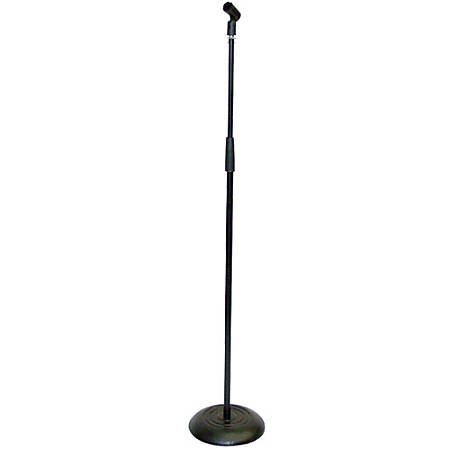 Pyle PMKS5 Compact Base Microphone Stand - Steel - Black
