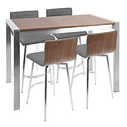 Unique Tall Kitchen Table with Stools