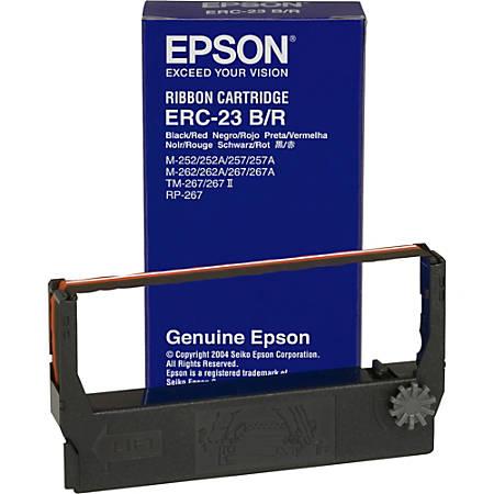Epson® ERC-23BR Black/Red Fabric Ribbon