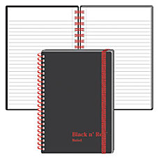 Black n Red Wirebound Notebook 4