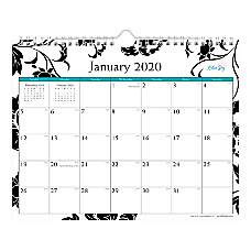 Blue Sky Monthly Wirebound Wall Calendar