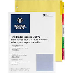 Business Source Insertable Tab Ring Binder