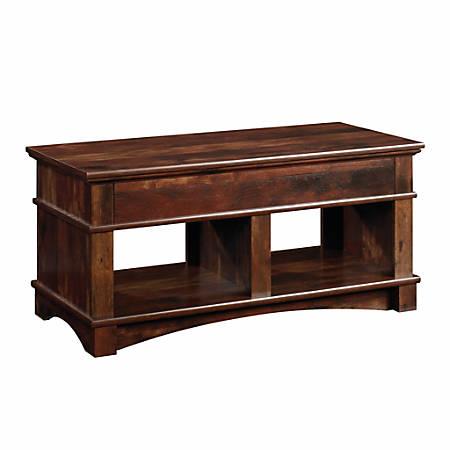 "Sauder® Harbor View Lift-Top Coffee Table, 19-5/8""H x 43-1/8""W x 19-1/2""D, Curado Cherry"