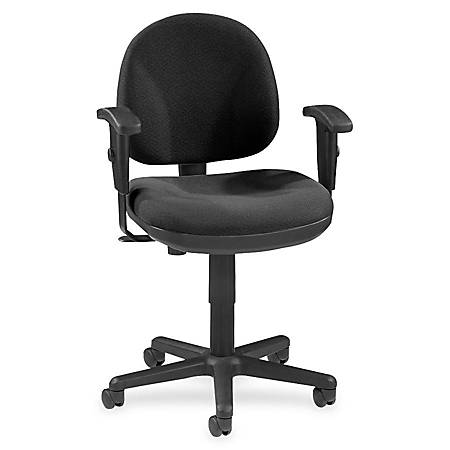 Lorell® Millenia Pneumatic Task Chair, Removeable Arms, Black