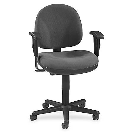 Lorell® Millenia Pneumatic Task Chair, Removeable Arms, Gray