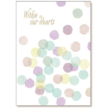 "Viabella Sympathy Greeting Card, Within Our Hearts, 5"" x 7"", Multicolor"