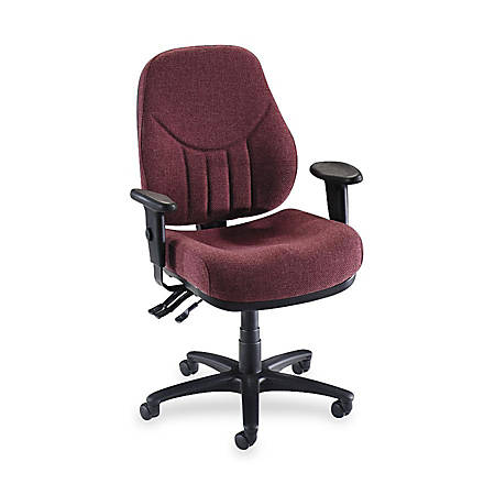 Lorell® Baily Series High-Back Multi-Task Chair, Burgundy