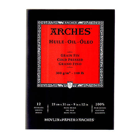 "Arches® Oil Pad, 9"" x 12"""