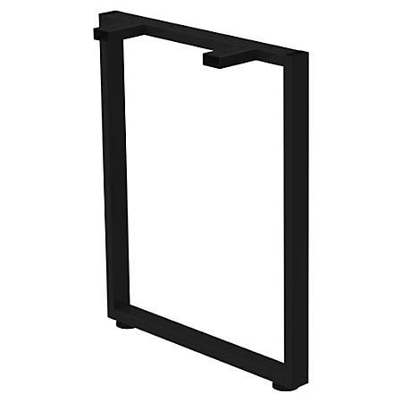 "Lorell® Kingsley Open Desking Work Surface O-Leg Support, 24""D, Black"