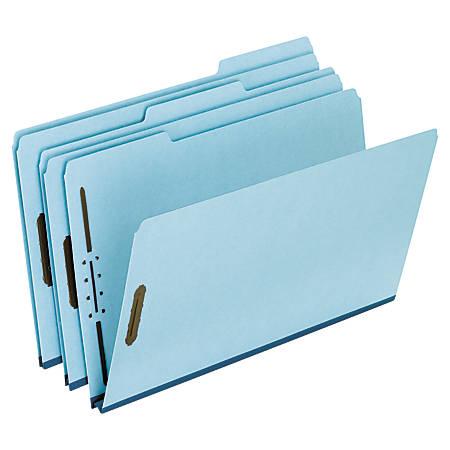 "Pendaflex® Pressboard Expanding Folders, 1"" Expansion, 8 1/2"" x 14"", Legal Size, 75% Recycled, Light Blue, Box Of 25 Folders"