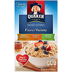 Quaker Instant Oatmeal Flavor Variety Packs