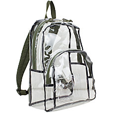 Eastsport Clear PVC Backpack Green