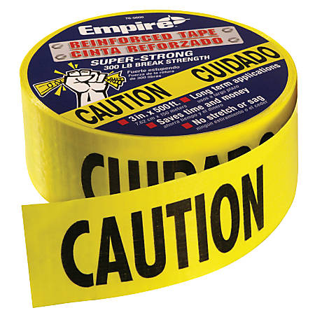 "Empire Level® Heavy Duty Reinforced Caution Tape Roll, 3"" x 500'"