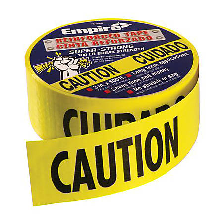 """Empire Level® Heavy Duty Reinforced Caution Tape Roll, 3"""" x 500'"""