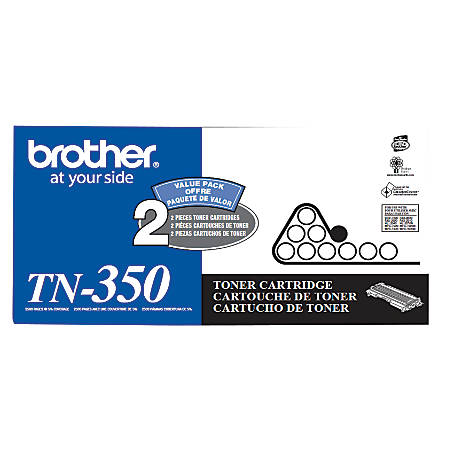 Brother® TN-350 Black Toner Cartridges, Pack Of 2