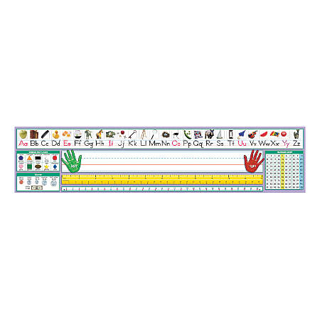 "North Star Teacher Resources Self-Adhesive Desk Plates, 17 1/2"" x 4"", Traditional Manuscript, Pre-K - Grade 8, 36 Plates Per Pack, Set Of 2 Packs"