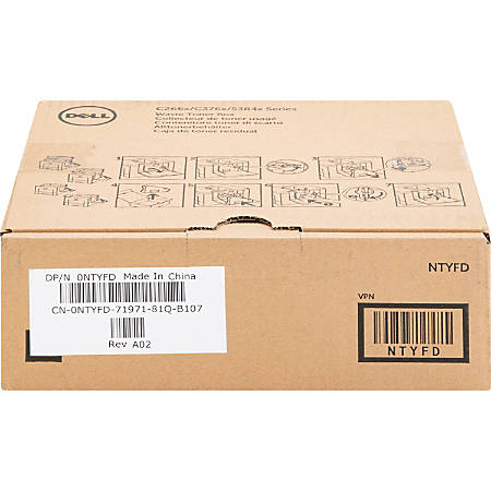 Dell™ NTYFD Toner Cartridge Waste Container Item # 628589