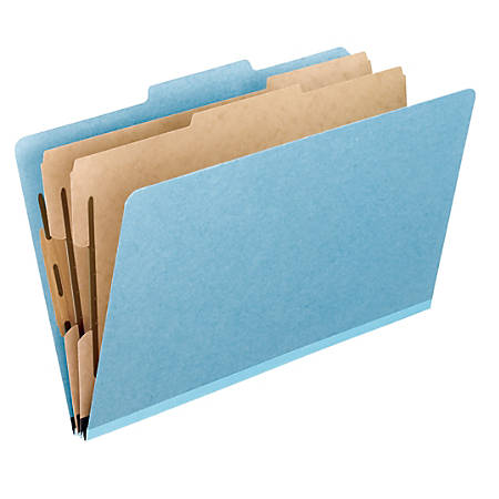 "Pendaflex® Pressboard Classification Folders, 8 1/2"" x 11"", Letter Size, Sky Blue, Box Of 10 Folders"