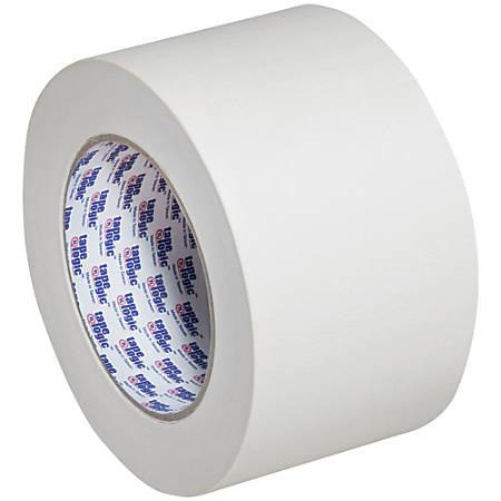 "Tape Logic® 2400 Masking Tape, 3"" Core, 3"" x 180', Natural, Pack Of 12"