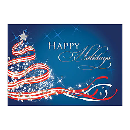 Patriotic Christmas.Sample Holiday Card Patriotic Christmas Item 628807