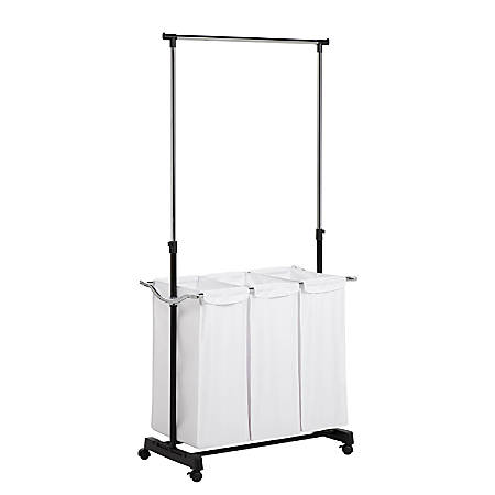 Honey-Can-Do Adjustable-Height Laundry Center, Chrome