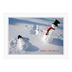 Sample Holiday Card Snow Man Angel