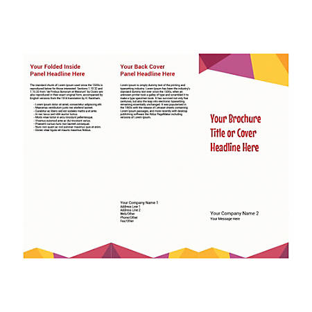 Customizable Trifold Brochure, Abstract Design Theme